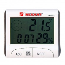 Термогигрометр REXANT 70-0511, комнатный с часами