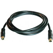 Шнур DIN 4 pin - DIN 4 pin OD5.0мм 1.5м позолоченный