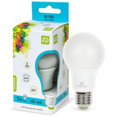Лампа светодиодная ASD LED-A60-standard 7Вт Е27 4000К