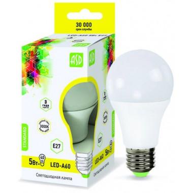 Лампа светодиодная ASD LED-A60-standard 5Вт Е27 3000К