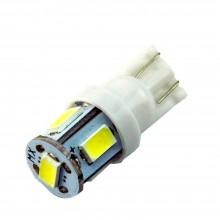 Автолампа светодиодная W5W T10 5LED SMD5730 12V
