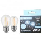 Лампа светодиодная GAUSS LED Filament A60 5Вт Е27 4100К