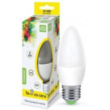 Лампа светодиодная ASD LED-СВЕЧА-standard 5Вт Е27 3000К