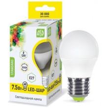 Лампа светодиодная ASD LED-ШАР-standard 7.5Вт Е27 3000К