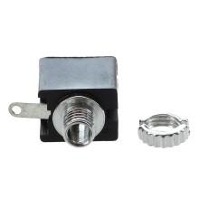 Разъём micro jack 2.5 мм (гн.) mono на корпус с гайкой