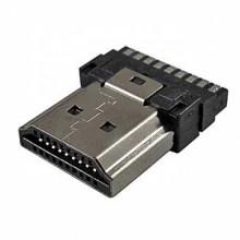 Разъём HDMI 7009 (шт.) на кабель, под пайку