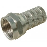 F-разъём (никелированная медь) на кабель RG-6