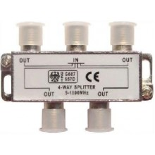 PROCONNECT 4-way splitter 5-1000 МГц под f-разъём