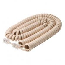 Шнур телефонный 4P4C - 4P4C 5.0м витой, слоновая кость