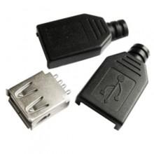 Разъём USB A (гн.), разборный