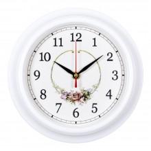 """Настенные часы РУБИН 2121-139 """"Венок из роз"""""""