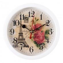 """Интерьерные часы РУБИН В4-007 """"Любовь в Париже"""""""