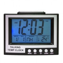 Часы TALKING TEMP CLOCK  SH-352-2 с термометром