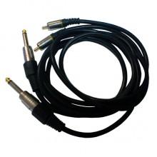 Шнур 2 х jack 6.35 мм mono - 2 х RCA OD6.0x12.0мм 1.5м позолоченный
