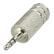 Переходник micro jack 2.5 мм (шт.) — mini jack 3.5 мм (гн.) stereo металлический