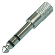 Переходник mini jack 3.5 мм (гн.) — jack 6.35 мм (шт.) stereo металлический