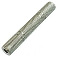Переходник jack 6.35 мм (гн.) - jack 6.35 мм (гн.) stereo металлический
