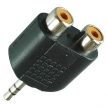 Переходник mini jack 3.5 мм (шт.) stereo — 2хRCA (гн.)