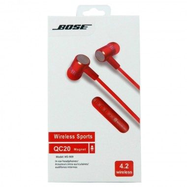 Гарнитура BOSE  Wireless Sport QC20 Magnet MS-909 RED