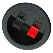 Аудио разъём двойная «прищепка» на корпус круглый ∅55мм