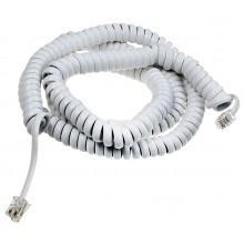 Шнур телефонный 4P4C - 4P4C 4.0м витой, белый