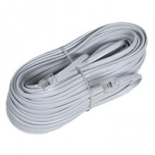Шнур телефонный 6P4C - 6P4C 15.0м линейный, белый