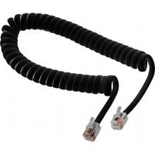 Шнур телефонный 4P4C - 4P4C 2.0м витой, чёрный