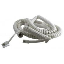 Шнур телефонный 4P4C - 4P4C 5.0м витой, белый