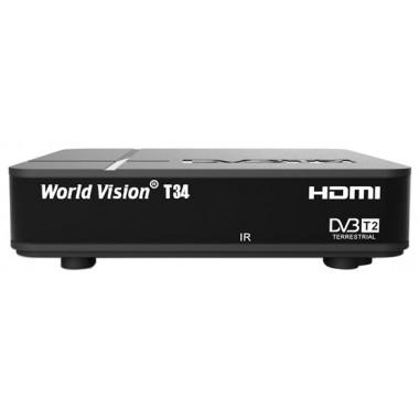 Эфирный цифровой ресивер World Vision T34