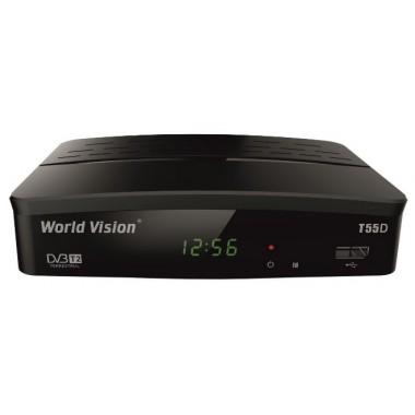 Эфирный цифровой ресивер World Vision T55D
