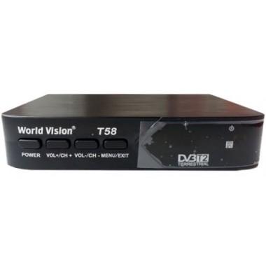 Эфирный цифровой ресивер World Vision T58
