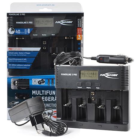 Новое зарядное устройство POWERLINE 5 PRO от ANSMANN