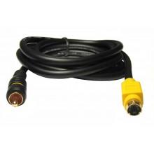 Шнур mini DIN 4 pin (S-VHS) - 1 RCA OD5.0мм 1.5м позолоченный