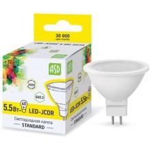 Лампа светодиодная ASD LED-JCDR-standard 5.5Вт GU5.3 3000К