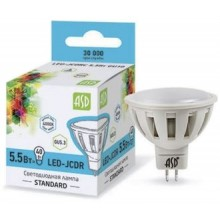 Лампа светодиодная ASD LED-JCDR-standard 5.5Вт GU5.3 4000К