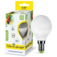 Лампа светодиодная ASD LED-ШАР-standard 7.5Вт Е14 3000К