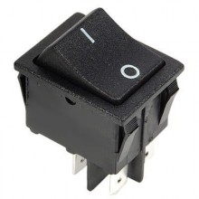 Выключатель клавишный GY604-201N-B 250V 30А (4с)