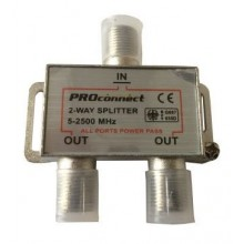 PROCONNECT 2-way splitter 5-2500 МГц под f-разъём