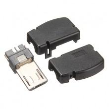 Разъём micro USB (шт.), разборный, угловой