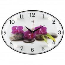"""Настенные часы 21 ВЕК 2434-908 """"Спа и орхидеи"""""""