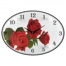 """Настенные часы 21 ВЕК 2434-1039 """"3 красные розы"""""""