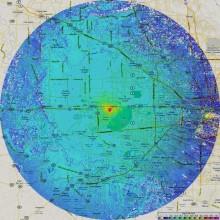 Карта охвата цифровым телевизионным вещанием стандарта DVB-T2