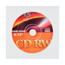 Компакт-диск VS CD-RW 700Mb 4х-12x (VSCDRWCB1001)