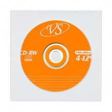 Компакт-диск VS CD-RW 700Mb 4х-12x (VSCDRWB5002)