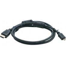 Шнур micro HDMI - HDMI OD7.0мм 1.5м с ферритами позолоченный