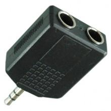 Переходник mini jack 3.5 мм (шт.) — 2 х jack 6.35 мм (гн.) stereo