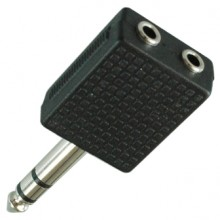 Переходник 2 х mini jack 3.5 мм (гн.) — jack 6.35 мм (шт.) stereo