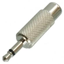 Переходник mini jack 3.5 мм (шт.) mono — RCA (гн.) металлический