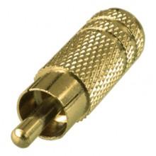 Переходник mini jack 3.5 мм (гн.) mono — RCA (шт.) позолоченный