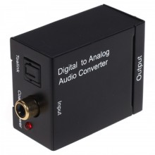 Конвертер Coaxial/Toslink digital audio ⇒ analog L/R audio RCA